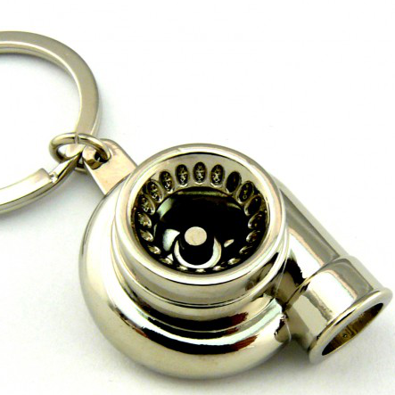 Turbo Keychain - Chrome